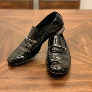 Louis Vuitton Patent Black Leather Loafers